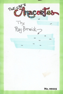 "Birds in a blue sky with the words ""Thx, Ray Burwick."""